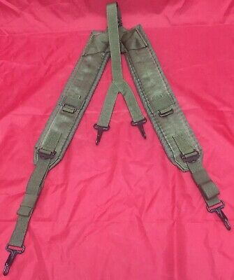 US Military Alice Y SUSPENDERS LBE Load Bearing Shoulder Web Harness OD (NEW)