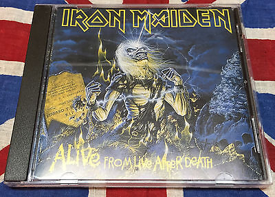 IRON MAIDEN ALIVE FROM LIVE AFTER NEAR MINT !!   death rare cd box lp