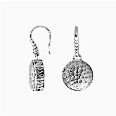 Sterling Silver Earring With Plain Silver AE-6240-S