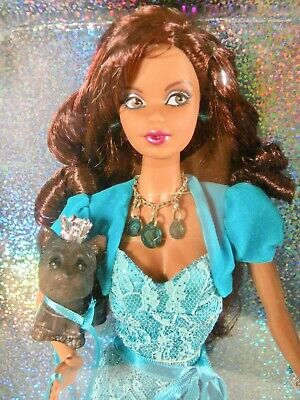 2007 Mattel Barbie Birthstone Beauties Miss Turquoise December TANNED DOLL