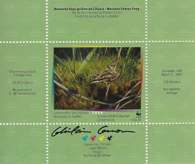 2006 Canada Quebec  Wildlife Habitat Conservation  WWF -DQ51s signed    Mint NH