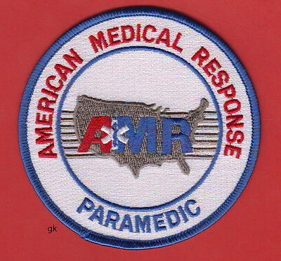 Amr American Medical Response Paramedic Shoulder Patch White