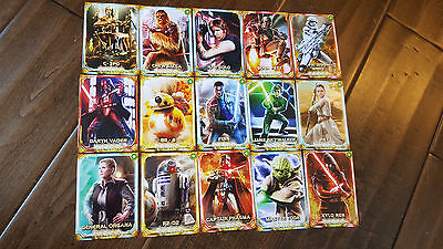 2016 Star Wars Celebration Europe Exclusivo Konami Promo Card Master Juego de 15