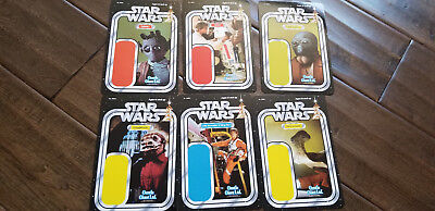 2018 Sdcc Gentle Giant Kenner Estilo Star Wars Promo Card Set de 6 Greedo Luke