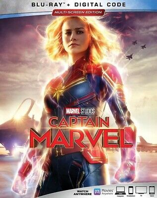 Captain Marvel Blu-Ray + Digital Code HD , Brand New With Slipcover