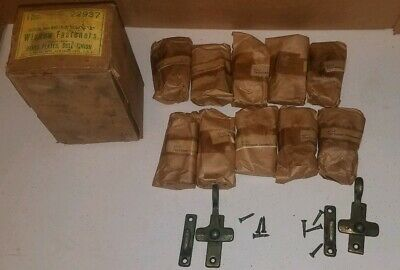 12 OLD  VICTORIAN CAST IRON CABINET CASEMENT TRANSOM WINDOW LATCH LOCK NOS Ives