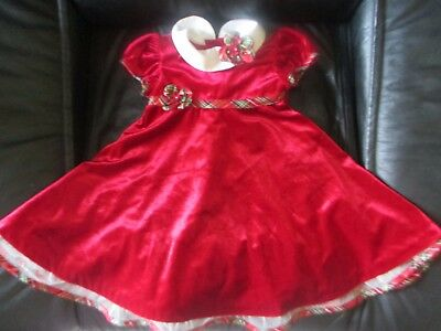 d296296c9711 WONDERKIDS TODDLER BABY GIRL CHRISTMAS HOLIDAY RED GREEN DRESS 12 ...