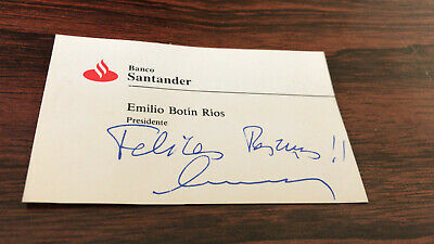 Emilio Botin - Bank of Santander | Business Card / Visitenkarte / Carte d visite