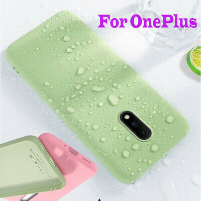 For OnePlus 7 Pro 7 6T Shockproof Slim Soft Liquid Silicone Skin Back Cover Case