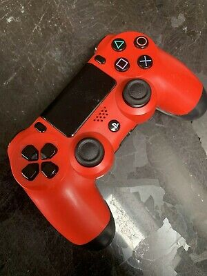 Official Sony Ps4 Dualshock 4 Wireless Controller- Faulty -Red
