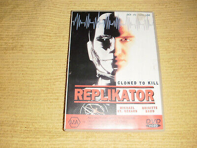 rare oop REPLIKATOR : CLONED TO KILL 1994 DVD as NEW sci fi thriller R4