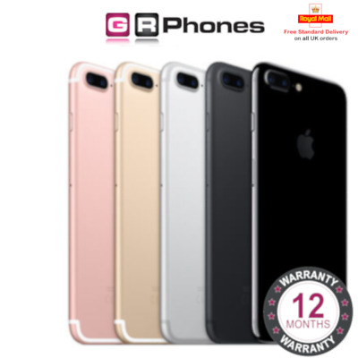 Apple iPhone 7 Plus 32GB 128GB 256GB Unlocked Black Rose Gold Silver Smartphone
