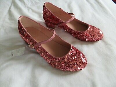 BNWT Girls Next Pink Sequin Heeled Bridesmaid Party Shoes Size 6  Eur 39