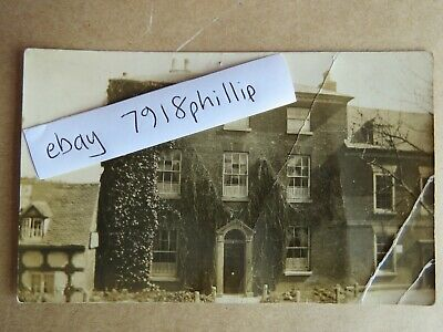 Rare early 1900s Ashby House, Lower Parade, Sutton Coldfield Real Photo Postcard