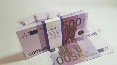 €500 EURO BANKNOTE COPY 1 pack for Prank, Games, Movies & Videos and Gift