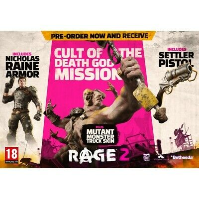 PS4 RAGE 2 Pre-Order Vorbesteller DLC Bonus Code PLAYSTATION 4 PLAYSTATION4