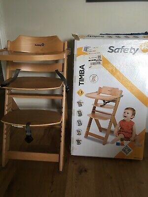Safety 1st Baby Feeding Timba Wooden Highchair High Chair Junior