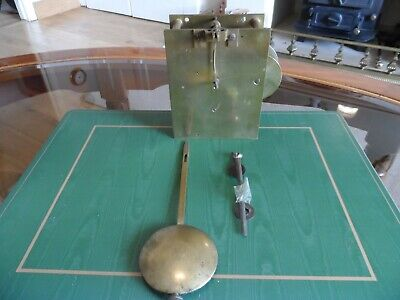 Fusee Clock Movement Complete With Pendulum & Hands  Dial Bracket Mantle clock