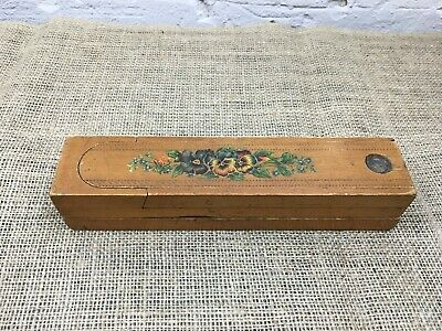 Old Vintage 3 X Tiered Sectioned Wooden Pencil Stationary Box Case
