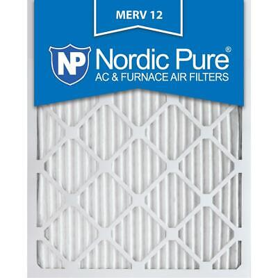 Nordic Pure 12 in. x 20 in. x 1 in. Allergen Pleated MERV 12 -Air Filters(6PACK)