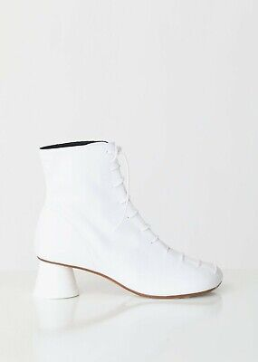 dd1deeda0f MM6 Maison Margiela Lace Up Leather Ankle Boots WHITE - Size 39 - NEW IN BOX