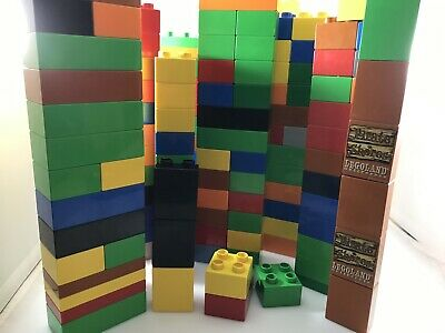 Lego 2x4 Bricks 400 Count 5 Assorted Colors RED Orange Yellow Blue Green ☀️NEW