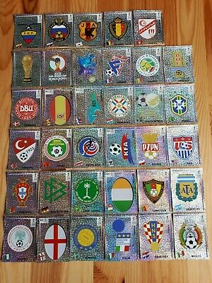 Panini WM KOREA 2002 WC 1 Sticker au choix ecusson wappen badge