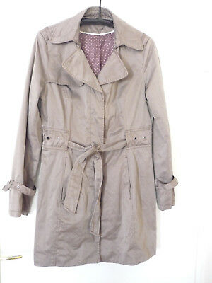 outlet store 3f5e3 01a4a ORSAY DAMEN SOMMER Trenchcoat Mantel Kurzmantel taupe Gr. 38 - TOP!
