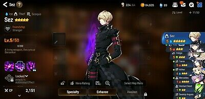 Epic 7 Seven Eu Europe Server 1-4 Fresh Starter Account Sez