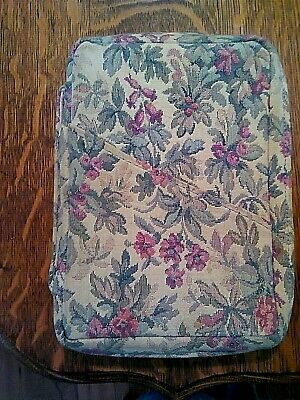 """Floral Tapestry Bible Book Cover Case Zipper  7"""" x 9"""""""