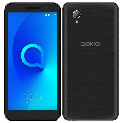"ALCATEL 1 ONE 5033X 8GB 4G BLACK 8GB 5"" UNLOCKED Android Sim Free Smartphone"
