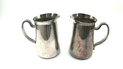 """DW Haber & Sons NY Water Tea Pitcher Heavy Silver Plate Vtg 8.5"""" Tall Rare Find!"""