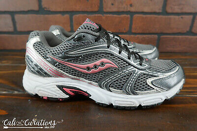 50d4c5584572 SAUCONY OASIS WOMENS Size 9.5 Running Athletic Shoes Gray Pink Volt ...