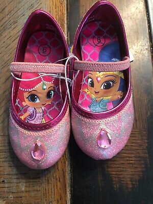 Toddler Girls' Shimmer and Shine Ballet Slip On Shoes Dress Up Pink Glitter Sz 6