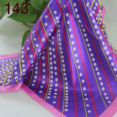 Fashion Vintage Women Silk Satin Scarves Ladies Small Square Wrap Head Shawl 143