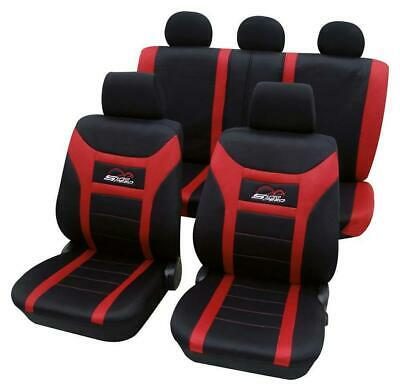 Red & Black Car Seat Covers For Nissan Almera 2006-2018