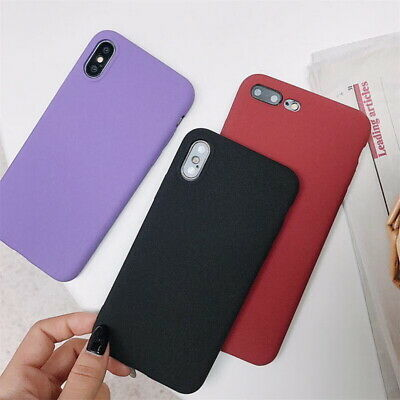 For iPhone XS Max XS XR 8 7 6s 6 Plus Ultra-thin Matte Soft Silicone Case Cover