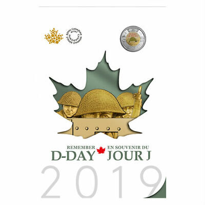 2019 Canada DDAY 75th anniversary keepsake colllector set - TWO special toonies