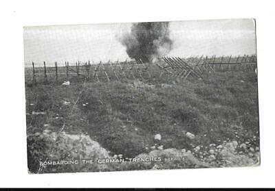 Military - Bombarding German Trenches - Old Field Post Office 1916 Pm Pc - Ww1