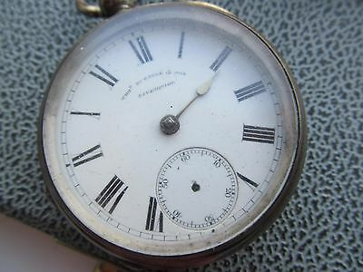 Antique  T Russell & son Liverpool  silver  pocket watch , chester hallmarked