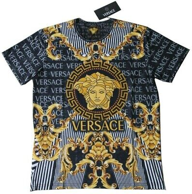 531796d6b NEW VERSACE BURGUNDY Red T-Shirt with Gold Medusa Embroidery sz XXL ...