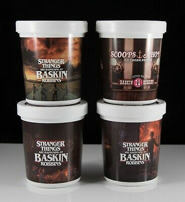 Stranger Things Baskin Robbins Limited Edition Quart Container set of 4