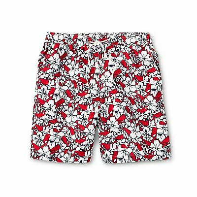 34f1fb870b NEW VINEYARD VINES for TARGET Men's Whale Floral Print Swim Trunks Red Navy  XL