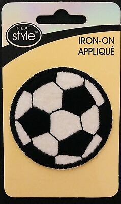 Patch embroidered iron sew badge  soccer ball football foot calcio futbol