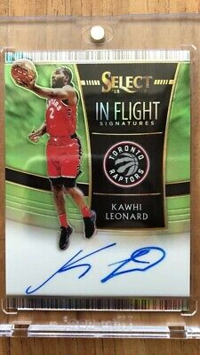 kawhi leonard Select Panini In Flight Auto 16/35 Toronto Raptors Autograph