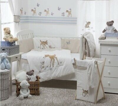 Bambi Disney Baby Crib Bedding Set - Quilt, Bumpers, Sheet, and Dust Ruffle