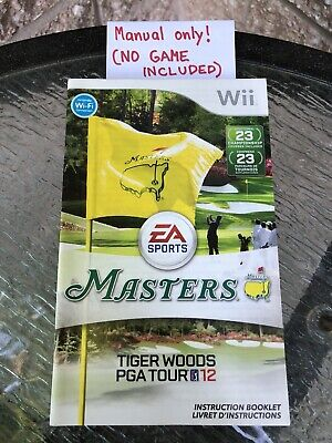 Instruction Manual Masters Tiger Woods PGA tour 12  Nintendo Wii Booklet