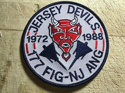 1988? US AIR FORCE PATCH-177th FIG NJ ANG JERSEY DEVILS SQUADRON-ORIGINAL USAF!