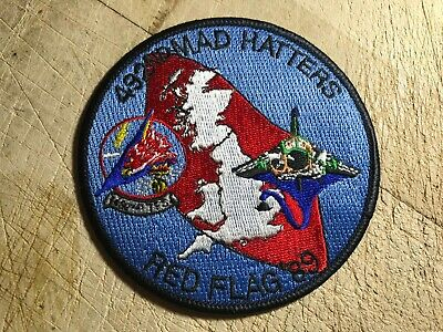 1989? US AIR FORCE PATCH-492nd MAD HATTERS RED FLAG '89 ORIGINAL USAF BEAUTY!