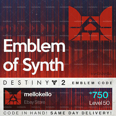 Destiny 2 Emblem of Synth emblem IN HAND!! SAME DAY DELIVERY!!!